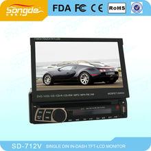 "7"" One Din Car DVD;Car radio,1 DIN car DVD player"