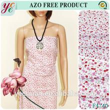 Cheap beautiful dresses rayon printing fabric made in china