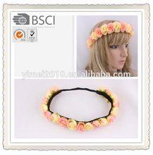 crochet knit flower headbands high quality,bridal flower headband