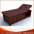 Table en bois moderne spa, d'épaisseur. haute densité lit de massage en bois en métal mainfacial tables. pour la vente