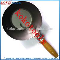 Carton steel strong wooden handle construction decorative cement bowl