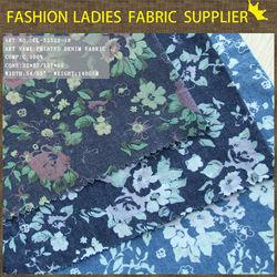 100%cotton denim fabric ,cotton fabric print denim fabric discharge print