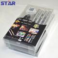 En plastique blister emballage 4 pcs 30cm led rigide bande de rvb 5050 12v 72led/m 16w + 24 clé télécommande ir + 12v 24w alimentation