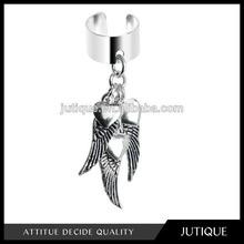 Handcrafted Angel Wings Dangle Ear Cuff