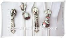 2015 5# Open end fashion zipper slider with diamond