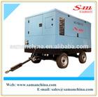 Saman diesel portable industrial rotary screw air compressor for mining