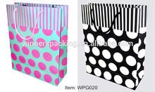 polka dot stripe shopping bag