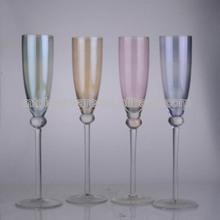 7 oz glass luster colored champagne