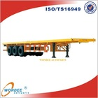China WONDEE 3 Axle Flatbed Truck Dimensions