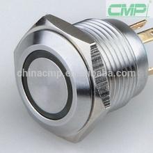 CMP 16mm waterproof LED Metal signal lamp ring illuminated pilot light ip67