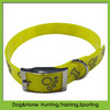 lovely TPU reflective pet collar for pet printed bone and paw hot pink color