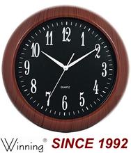 Plastic Material Wooden Color Antique Quartz Wall Clock