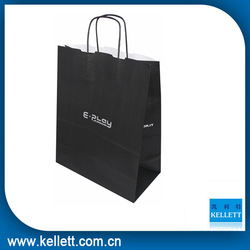 luxury printing craft paper gift shopping bag with ribbon handle