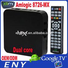 XBMC tv box Mx Dual Core 1.5GHZ Mali-400 1GB/8GB XBMC HD aml8726-mx internet tv box