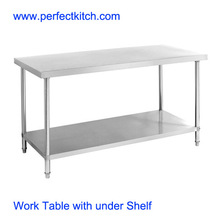 Stainless Steel Working Table with under Shelf/SS Restaurant Working Table
