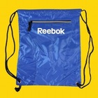 Gym Bag School Cinch Sack Sport Drawstring Backpack Zip Pocket Royal Blue