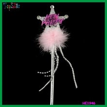 Hot Sales Flashing Pink and Silver Hen Party Wand Light Up Fairy Wand