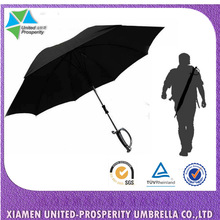 Funny auto open fencing umbrella with sword handle and carrier pouch