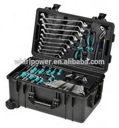 Water resistant trolley hand tool set