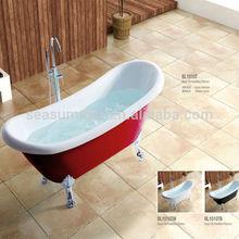 New print design Black Acrylic bathtub for adult in Russia market