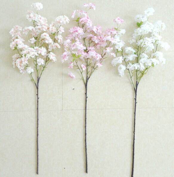 Kunstmatige cherry bloei bloemen boomtak kantoor decoratie bloemen kunstplant boom hete - Decoratie kantoor ...
