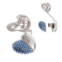 2014 diamond heart usb usb flash,custom free logo heart shape usb memory sticks 1GB