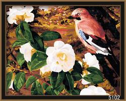 Bird and flowers digital DIY oil paintings home decor