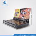 Publicidade de moda de papelão grosso Mac exibição cosméticos