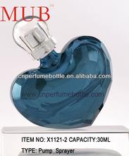 50ml Heart Shape UV Printing Glass Perfume Bottle For Wedding Favor Decoration