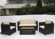 outdoor rattan sofa, wicker sofa promotion, patio garden QHA-2016-KD