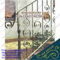 Interior decorativa corrimão de ferro forjado/exterior em ferro forjado trilhos da escada/lowes escada de ferro forjado trilhos da mão