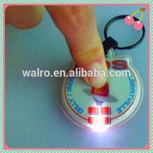 Custom manufacturers promotion pvc led keychain light