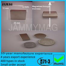 n52 placcatura in nichel magnete al neodimio blocco