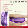 Compact Design For Girls 60 Degree Rotate 4400mAh Power Bank