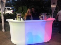 illuminated led acrylic bar top