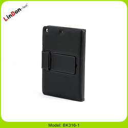 2015 New Black Removable Bluetooth Wireless Keyboard Leather Case for New iPad 5th Gen BK316-1