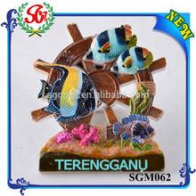 SGM062 Fish Wheel Terengganu Malaysia Fridge Magnet Set
