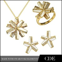 2014 Charming Italian Gold Jewelry Sets,18k Gold Plated Ear Rings Necklac Jewel Sets