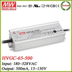 Meanwell HVGC-65-500 0-10v dimming led driver