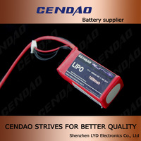 Cendao sufficient capacity 1000mah rc battery 30c 11.1v 11.1v lithium polymer battery pack for airplane Helicopter