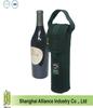 Custom logo printed One Bottle neoprene insulate wine tote bag