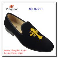 Men Wedding shoes Black Velvet Loafers