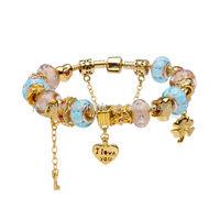 wrist band,European Murano Glass Beads Charm Bracelet wrist band