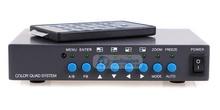 4CH Color Video Quad Splitter Processor for CCTV System VGA-OUT 4 Channel Digital Color Quad System VGA-OUT Video Processor Spli