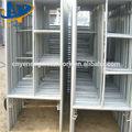 Galvanizado de la puerta de acero escalera andamios marco