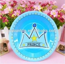 Children's party supplies Blue Prince disposable cupcake trays baby shower favors 6pcs/set