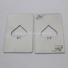 Credit Card Size Casino Metal Bottle Opener Card with Matt Chrome Bottle Opener Card Holder