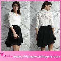 Hot Sale Wholesale Charming Belted skater dress short sleeve