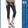 2014 new design pencil pants stretch Slim Cropped Jeans women Short Trousers (JXW110)