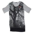 100% visose woman blouse / 100% rayon woman long t shirt / blouses for woman / woman XXL t-shirt
